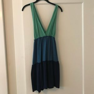 Ella Moss cotton tri-color dress